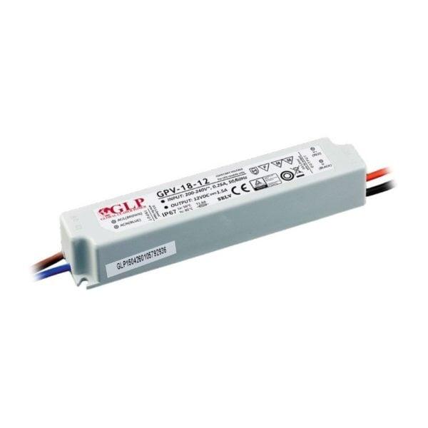LED POWER SUPPLY 12V, 18W, 1.5A