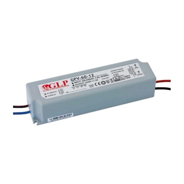 LED POWER SUPPLY 12V, 60W, 5A