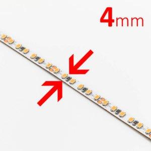 LED strip, 4mm flexstrip, 24V, 9,6W, 760Lm/m, 120 LED/m