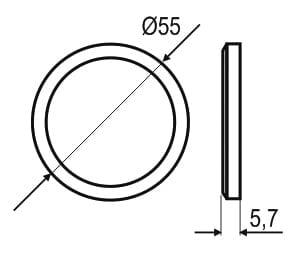 Sensor switch surface mounted