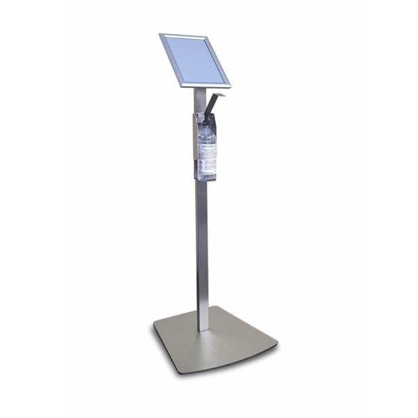 Hand sanitizer floor stand dispenser
