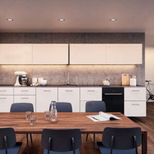 "Coplanar sliding door system ""Eku Frontino 20 H OS"" for kitchen highboards"