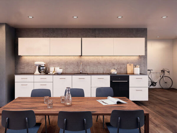 "Coplanar sliding door system ""Eku Frontino 20 H OS"" for kitchen highboards"