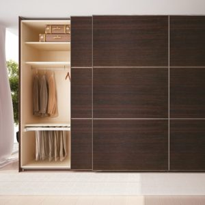 System for wardrobes with overlapping sliding doors PS48.1
