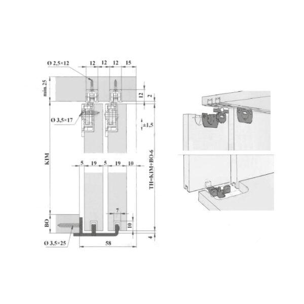 "Sliding doors system ""Eku Clipo 15 SH MF"" 3"
