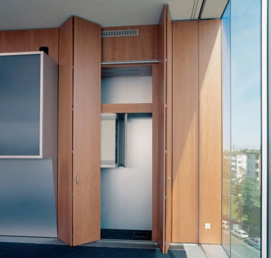 "Folding door system ""HAWA MULTIFOLD 30"""