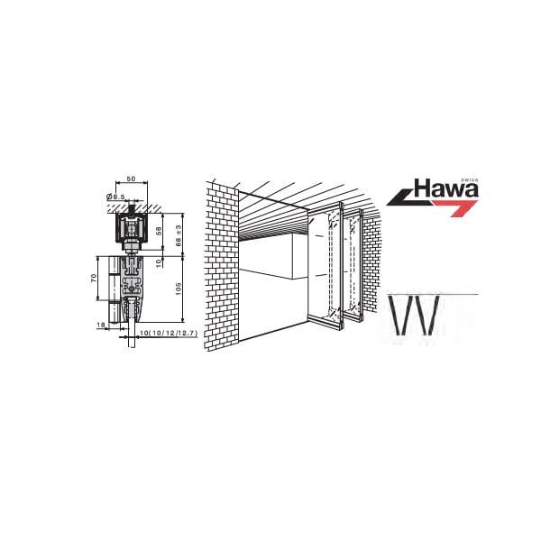 HAWA-VARIOFOLD 80/GV