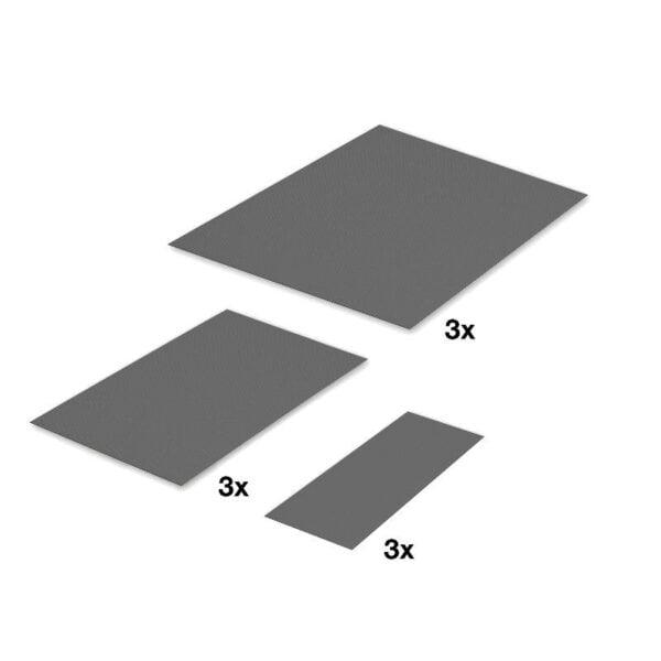 """Non-slip mat set for """"PLENO PLUS"""" with """"FIORO"""" system 3"""