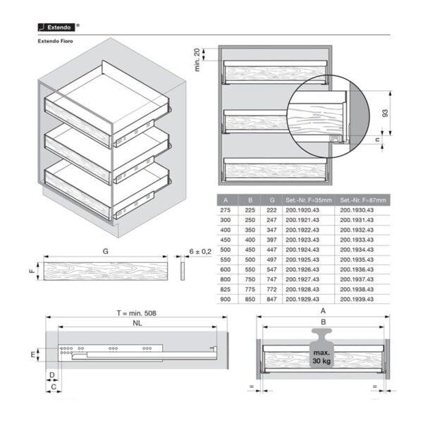 Extendo shelves for a closet with FIORO 6