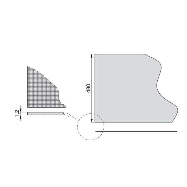 Textile effect non-slip mat 3