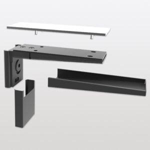 Pecasa shelf support for glass shelves