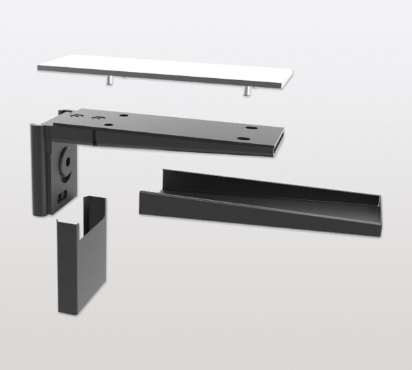 Pecasa shelf support for glass shelves 2