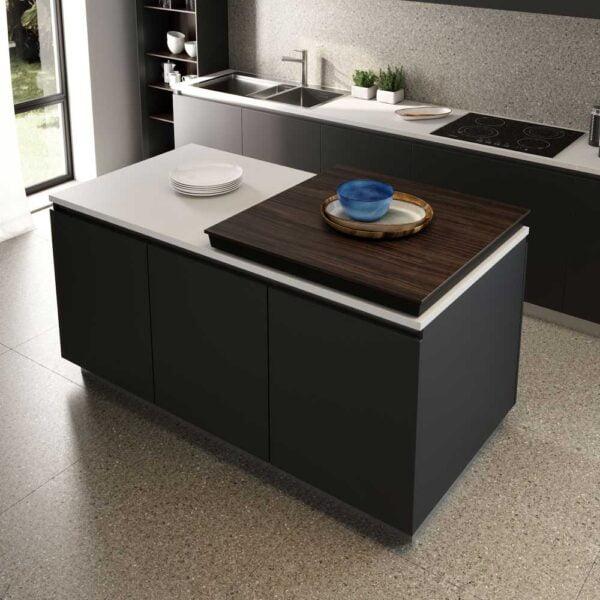 Corner – Sliding table top with diagonal movement 4