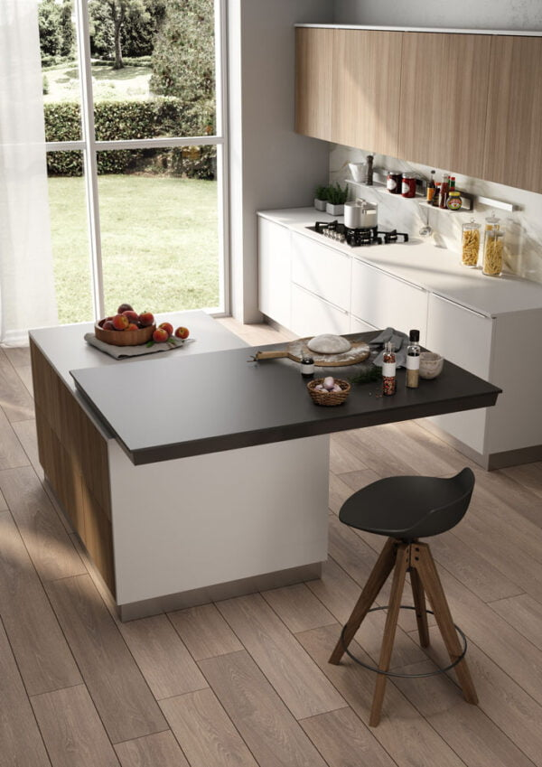Twice Top – Sliding top on both sides of the kitchen island