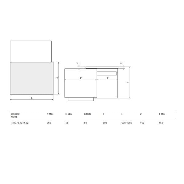 Flap – Sliding table top