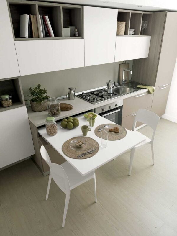 Lunch Reverse – pull-out table from a drawer