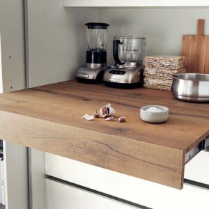 Oplà – Pull-out worktop flush with cabinet top