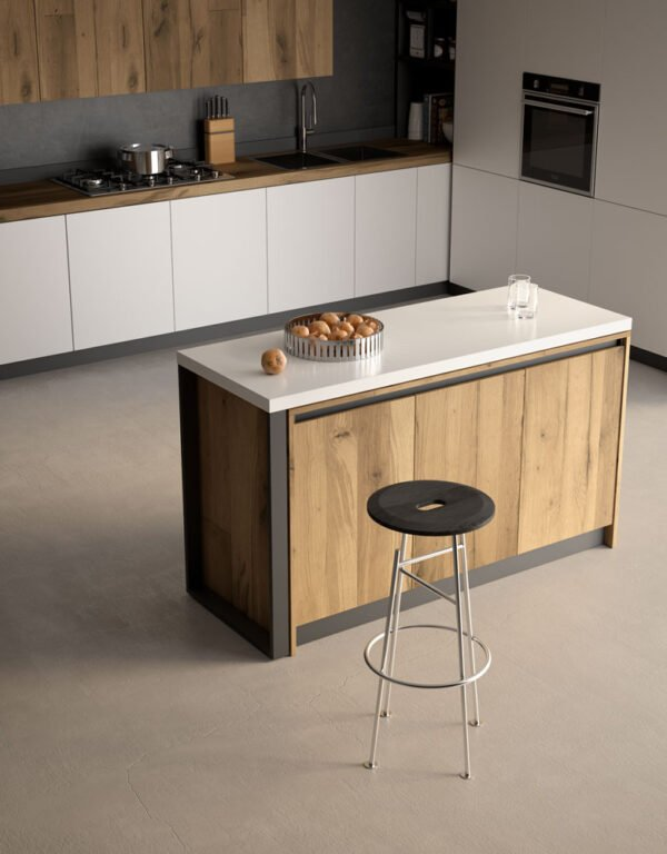 Sestante – Sliding and revolving table top with legs