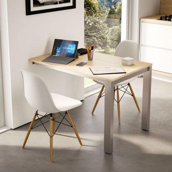 Voilà Chair Reverse – Pull-out table with legs