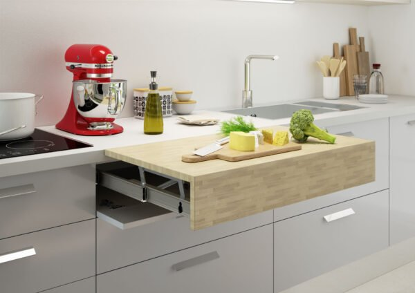 Oplà Top – Pull-out worktop flush with top