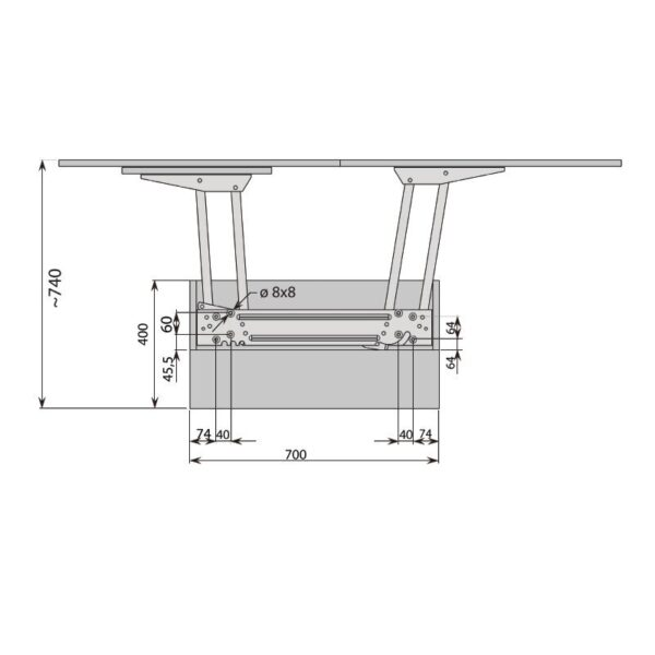 AUTOMATIC TABLETOP LIFT UP MECHANISM 6