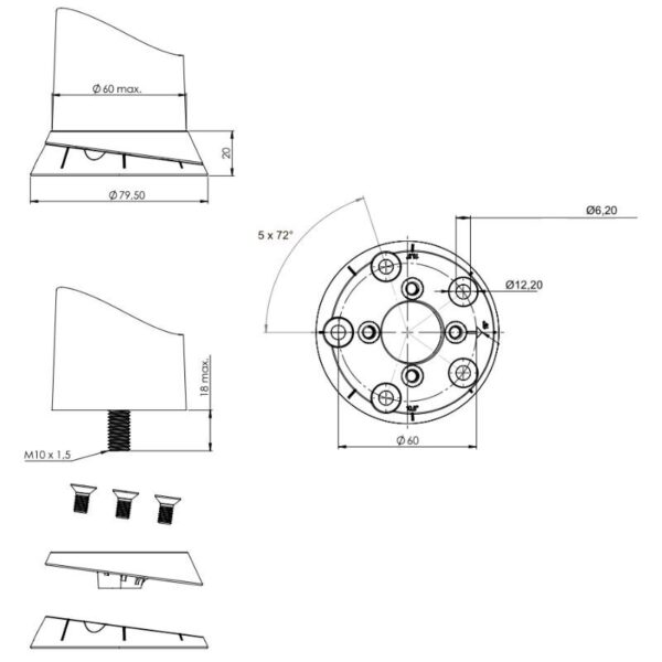 LEG CONNECTOR WITH ANGLE ADJUSTMENT