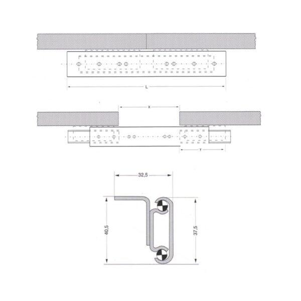 TABLE EXTENSION MECHANISMS STANDART