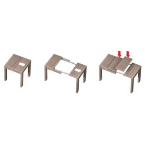 TELESCOPIC TABLE EXTENSION MECHANISMS