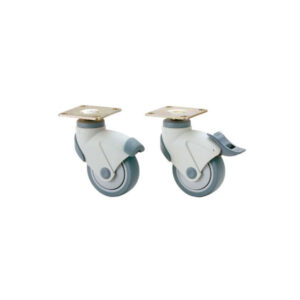 EX-100 DUAL BRAKE SYSTEM CASTER, PLATE TYPE